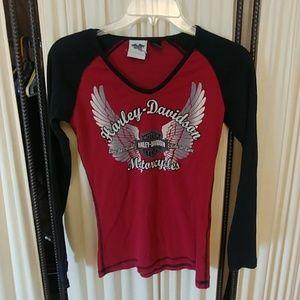 Woman's Small Harley Davidson LS Shirt